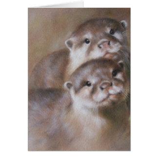 Otters Wenskaart