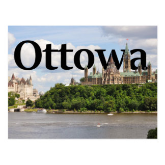 Ottowa, de Horizon van Canada met Ottowa in Hemel Briefkaart