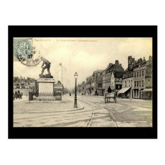 Oud Briefkaart - Calais, Internationale Boulevard,