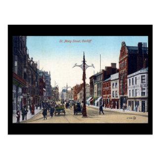 Oud Briefkaart, Cardiff, St Mary Street Briefkaart