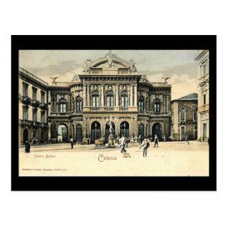 Oud Briefkaart, Catanië, Sicilië Briefkaart
