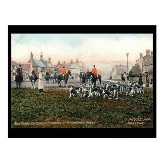 Oud Briefkaart - de Honden van N Cotswolds,