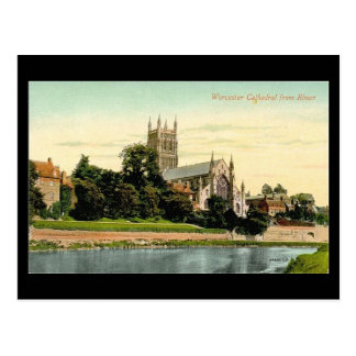 Oud Briefkaart - de Kathedraal van Worcester