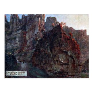 Oud Briefkaart - de Klippen van de Cheddar,
