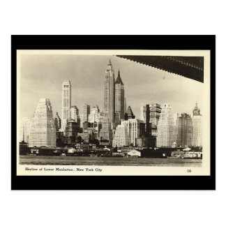 Oud briefkaart de stad van new york wens kaarten