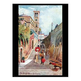Oud Briefkaart - de Treden van de Brug, Richmond,