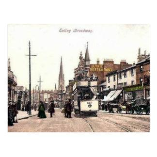 Oud Briefkaart - Ealing Broadway, Londen