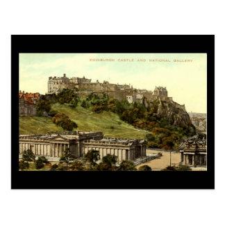 Oud Briefkaart, het Kasteel van Edinburgh & Briefkaart