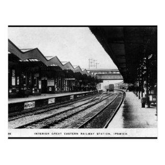 Oud Briefkaart - het Station van Ipswich