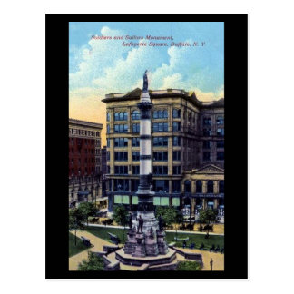 Oud Briefkaart - het Vierkant van Lafayette,