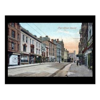 Oud Briefkaart, Hoofdstraat, Cardiff Briefkaart