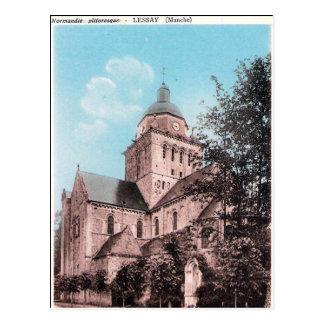 Oud Briefkaart - Lessay, het Kanaal, Normandie
