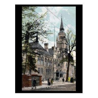 Oud Briefkaart, Londen, Ealing, de Zaal van Briefkaart