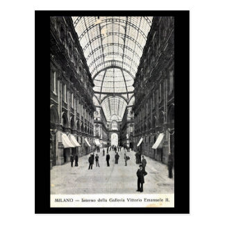 Oud Briefkaart - Milaan, Galleria