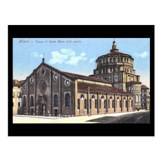 Oud Briefkaart - Milaan, Santa Maria delle grazie