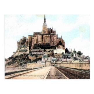 Oud Briefkaart - mont-St-Michel, het Kanaal,