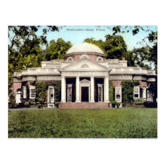 Oud Briefkaart - Monticello, Virginia, de V.S.
