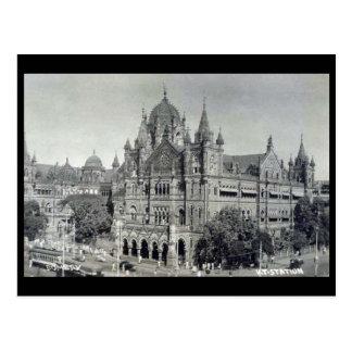 Oud Briefkaart - Mumbai, het Eindpunt van Victoria