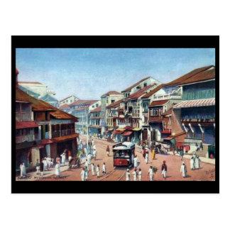 Oud Briefkaart - Mumbai, Straat Pydownie