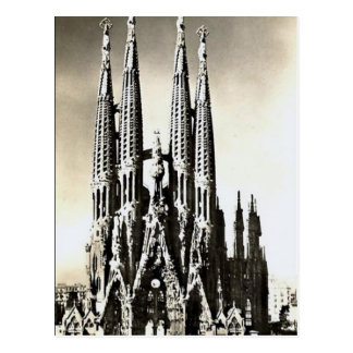 Oud Briefkaart - Sagrada Familia, Barcelona