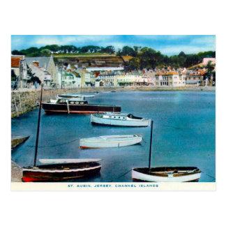 Oud Briefkaart - St Aubin, Jersey, de Eilanden van