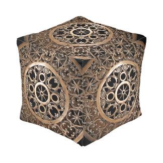 Oud geheimzinnig het metaalbrons van Vatikaan Vierkant Zitkussen