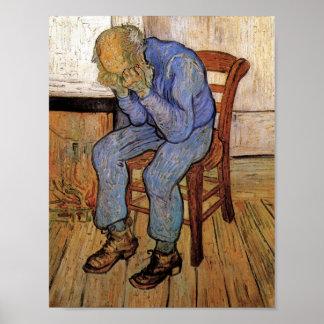Oud Man in Sorrow Van Gogh Fine Art. Poster