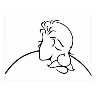Oud Man of Jonge Dame Optische illusie Briefkaart
