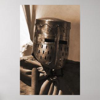 oud middeleeuws maskerposter poster