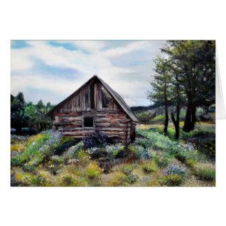 Oud New Mexico Casita/Cabine/Huis/Land Wenskaart
