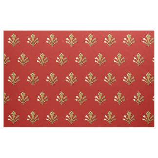 Oud Roman Gouden Patroon met Rode Achtergrond Stof