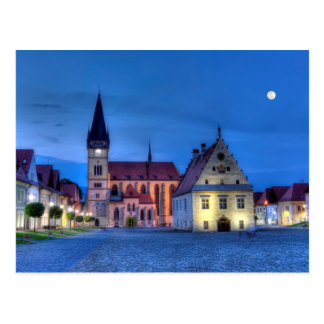 Oud stadsvierkant in Bardejov, Slowakije, HDR Briefkaart