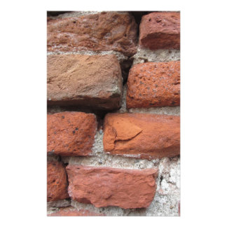 Oude bakstenen muurachtergrond persoonlijk briefpapier