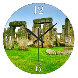 Oude Bevindende Stenen Stonehenge in het Art. van Ronde Klok Large