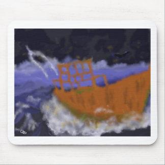 Oude Boot in het Art. van het Storm Muismat