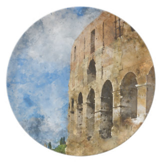 Oude Colosseum in Rome Italië Melamine+bord
