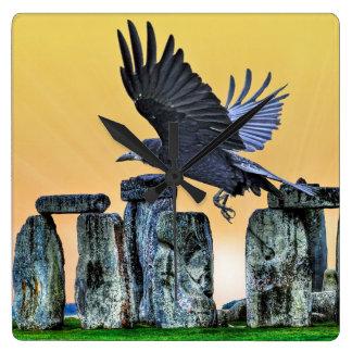 Oude de corvid-Minnaar van Stonehenge & van de Vierkante Klok
