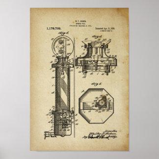 Oude de Illustraties van het Octrooi van het Poster