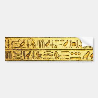 Oude Egyptische Gele Hiërogliefen Bumpersticker