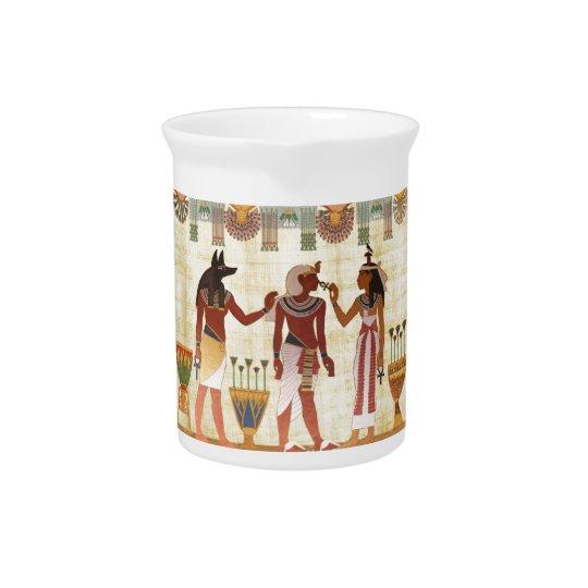 Oude Egyptische ontwerpwaterkruik Bier Pitcher