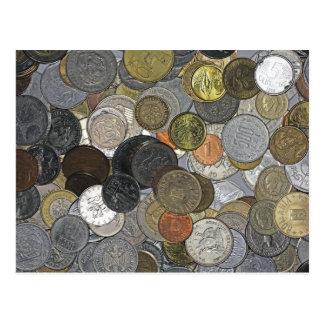Oude en internationale muntstukken briefkaart
