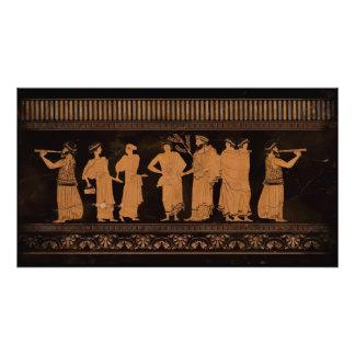 Oude Griekse Muurschildering Foto Afdruk