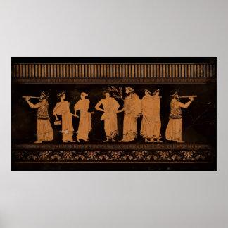 Oude Griekse Muurschildering Poster