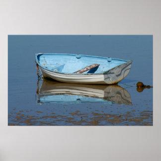 Oude het roeien boot poster