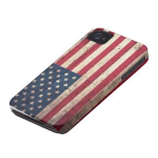 Oude Houten Amerikaanse Vlag iPhone 4 Hoesje