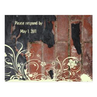 Oude Rode Baksteen rsvp Briefkaart