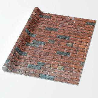 Oude Roodachtige/Bruinachtige Bakstenen muur Cadeaupapier