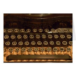 Oude Schrijfmachine voor verjaardag Briefkaarten 0