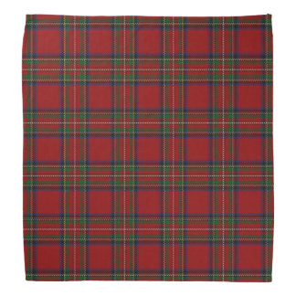 Oude Scotsman Clan Stewart Royal Red Tartan Plaid Bandana