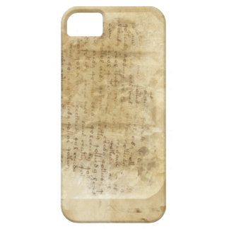 Oude scripture - licht beige barely there iPhone 5 hoesje
